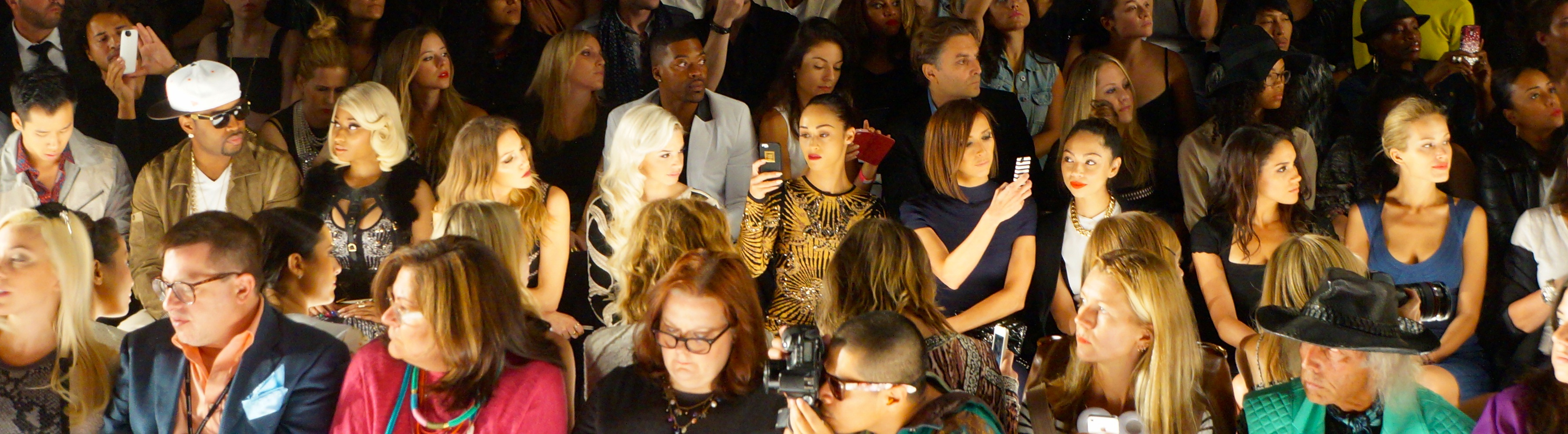 Front Row at Herve Leger- NYFW Spring 14