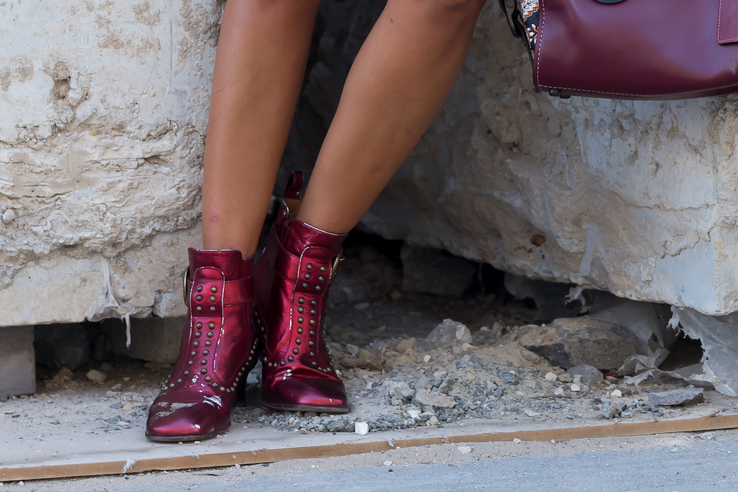 Coach boots, kat lebrasse, studded boots, AW16 boots, winter boots